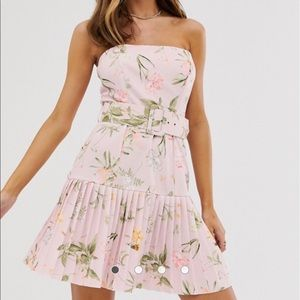 ASOS Pleated Floral Dress NEVER WORN